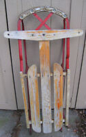 Two Vintage/Antique Wooden Snow Sleds