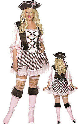 Smiffy 36147 Pink Pirate Lady Plus Size Fancy Dress Halloween Costume Last 1X