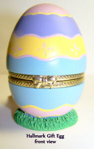 """Vintage Hallmark Egg is free-standing gift """"box"""", colourful, new"""
