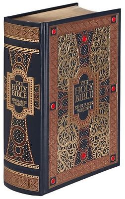 THE HOLY BIBLE- King James Version GUSTAVE GORE ILLUSTRATED Leather Bound & NEW!