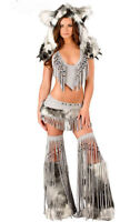 Furry spirit wolf costumes for Northern Lights Music Festival!