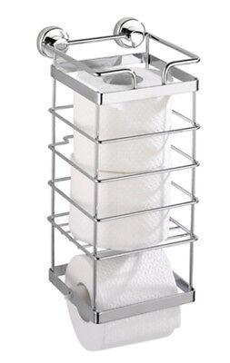 Chrom Wc Papier Halter (Wenko Toilettenpapierhalter Chrom ohne Bohren + WC Ersatzrollenhalter Kleben Klo)