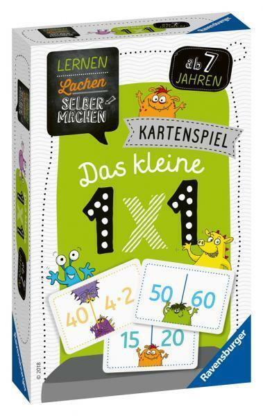 Ravensburger Kinder Kartenspiel Lernen Lachen Selbermachen kleine 1 x 1 80350