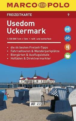 MARCO POLO Freizeitkarte Usedom, Uckermark 1:100 000 gebraucht kaufen  Aspach