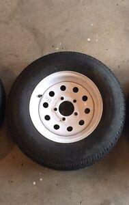 Trailer tire on rim Moose Jaw Regina Area image 1