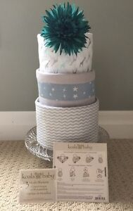 3 Tier Diaper Cake by Ava May Diaper Cake Co.  London Ontario image 2