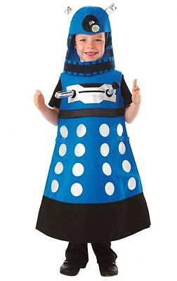 NEW AUTHENTIC UK BBC DR DOCTOR WHO BLUE STRATEGIST DALEK COSTUME BOYS CHILD 3 - Dr Who Child Costume