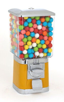 Pro Single Vending Machine And Stand - Yellow With Gumball Wheel