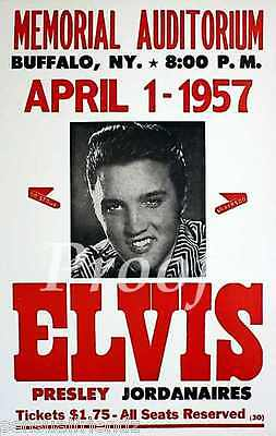 Elvis Presley & Jordanaires Concert  Poster print Buffalo, NY 1957