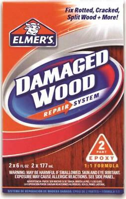 New Elmers E761q Surface Repair 2 Part Epoxy Damaged Wood Repair 12oz 5869979