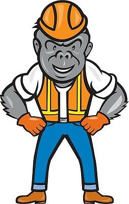30 Custom Construction Gorilla Personalized Address Labels