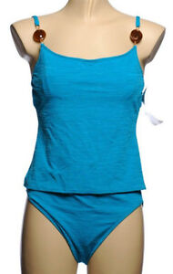 Turquoise Blue Tankini - Underwire Bust - NEW - Size 12