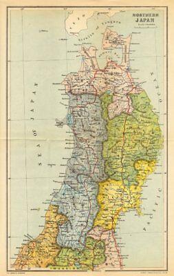 JAPAN. North 1907 old antique vintage map plan chart