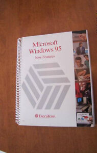 Microsoft Windows 95 and Excel training manuals