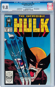 INCREDIBLE HULK 340 CGC GRADED 9.8 TODD MCFARLANE COVER & ART