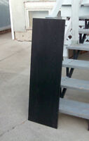 "Black shelf boards; 3, each is 16""x48""x3/4"""