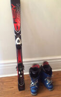 KIDS Salomon skis and Lange boots
