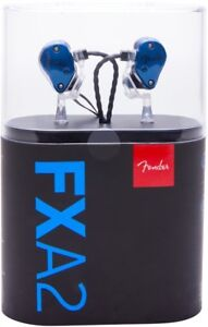 Fender FXA2 Professional In-Ear Monitor Headphones, BlueBNIB