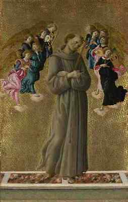 Sandro Botticelli Saint Francis Of Assisi With Angels A4 Print