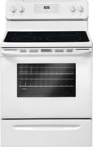 Selling white stove with glass top