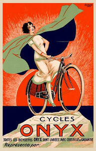 Fashion-Lady-Riding-Bicycle-Bike-Cycles-Onyx-French-Vintage-Poster-Repro-FREE-SH