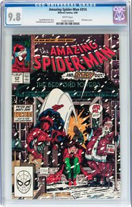 AMAZING SPIDERMAN 314 CGC GRADED 9.8 TODD MCFARLANE