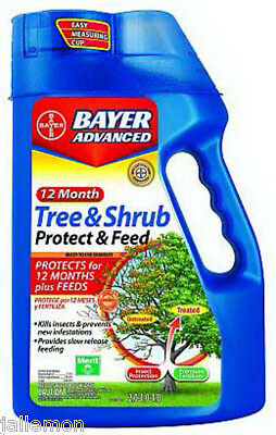 Bayer Tree Insecticide ((1) BAYER 701900B 4LB 12 MONTH TREE SHRUB PROTECT & FEED INSECTICIDE)