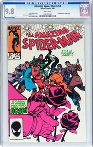 AMAZING SPIDERMAN 253 CGC GRADED 9.8 FIRST APPEARANCE THE ROSE