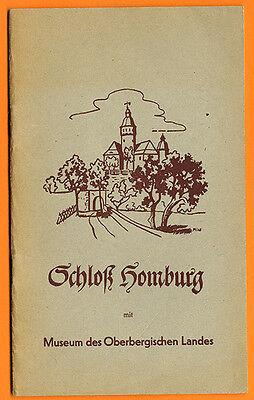 Westfalen Bergisches Land Schloß Homburg Geschichte Museum Sammlung Führer 1957