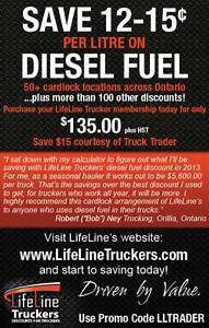 TRUCKERS - DIESEL 12-15¢ OFF/L, TIRES UPTO 38% OFF