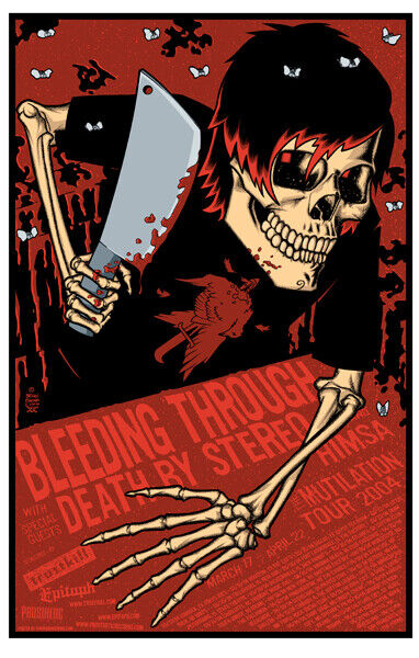 Bleeding Through Concert Poster Brian Ewing 2004
