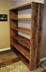 Heavy Duty Reclaimed Wood Shelving Units