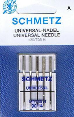 Schmetz - Maschinennadeln  Universal Flachkolben 130-705H Stärke 90/14