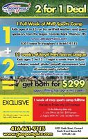 2 for 1 summer camp $59 a week wow!