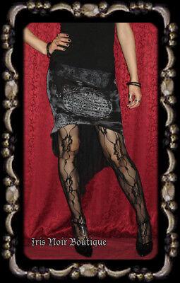 Lip Service *Rare* RIP Gothic Victorian Steampunk Graveyard Garter Skirt XS