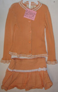 2 Pc Girls Size 4T TCP Orange & White Knit Sweater & Skirt London Ontario image 1