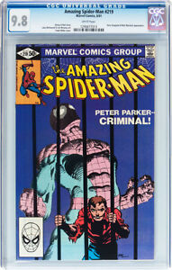 AMAZING SPIDERMAN 219 CGC GRADED 9.8 FRANK MILLER COVER