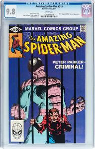 AMAZING SPIDERMAN 219 CGC GRADED 9.8 FRANK MILLER COVER Oakville / Halton Region Toronto (GTA) image 1