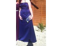 Colbolt blue evening gown worn once