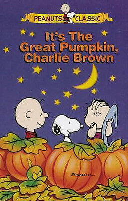VHS~ Peanuts   IT'S THE GREAT PUMPKIN CHARLIE BROWN ~Halloween~Linus~Lucy~Snoopy