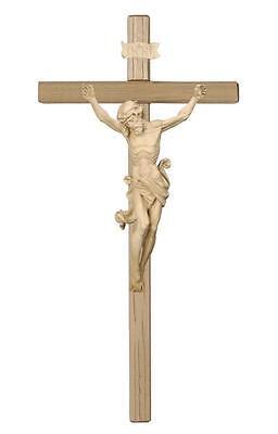 "33"" Hand Carved Crucifix - Natural Wood - PEMA Leonardo Corpus - Church or Home"