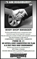 Body Shop Manager