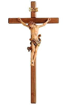 "33"" Hand Carved Crucifix - Hand Painted - PEMA Leonardo Italian Corpus"