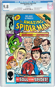 AMAZING SPIDERMAN 274 CGC GRADED 9.8 COVER & ART JOHN ROMITA SR