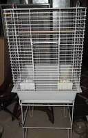 Bird cage with stand for cockatiels, conures, budgies