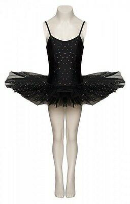 Black Sparkly Sequin Swan Halloween Ballet Fancy Dress Costume Tutu Outfit Katz  (Black Swan Halloween Outfit)