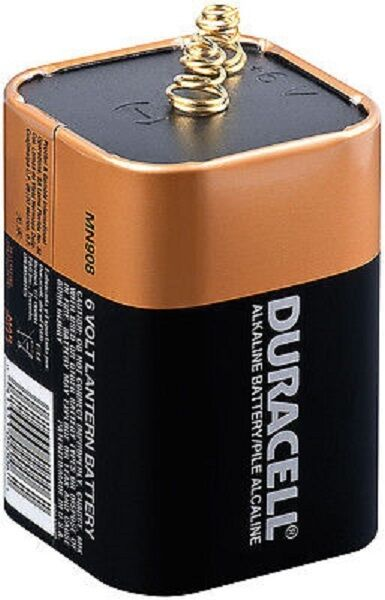 BRAND NEW DURACELL MN908 Lantern Battery, Alkaline, 6V, Spring Terminals