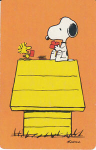 Vintage Swap/Playing Card - 1 SINGE - SNOOPY DOG