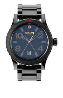 BRAND NEW NIXON THE DIPLOMAT SS ALL BLACK POLISHED/GOLD