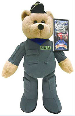 "Collectible Military Plush Stuffed Bear Air Force 9"" Teddy Bear - Guardian"